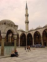 Внутренний двор мечети Султан Ахмед