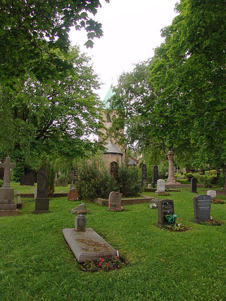 старое кладббище в центре Осло