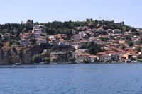 Вид на Охрид со стороны озера