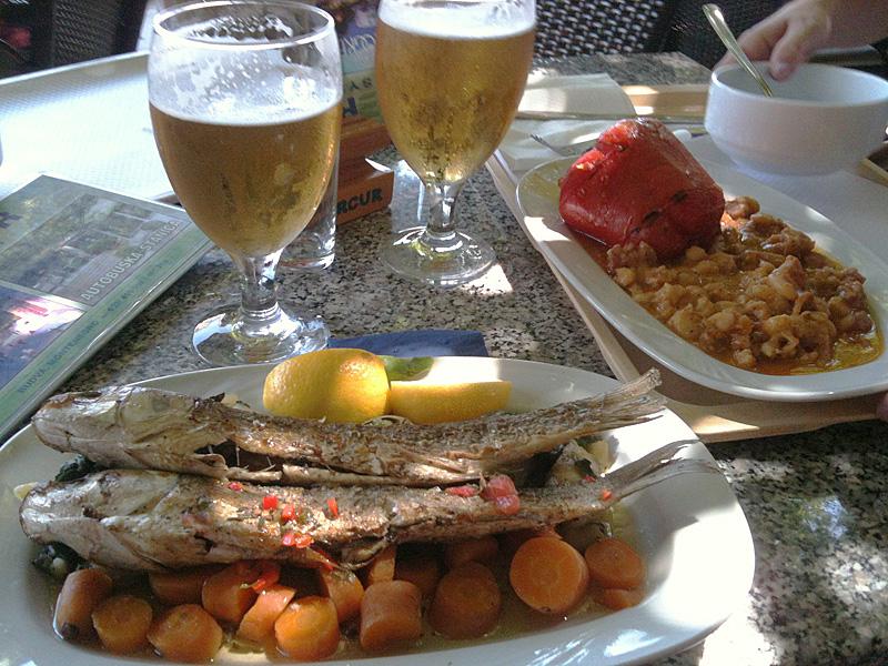 черногорский обед с пивом