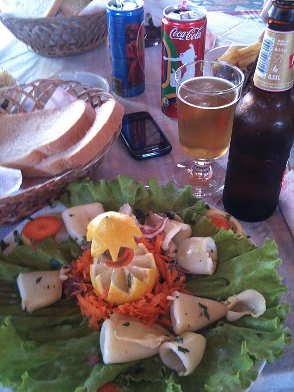 албанский обед с кальмарками