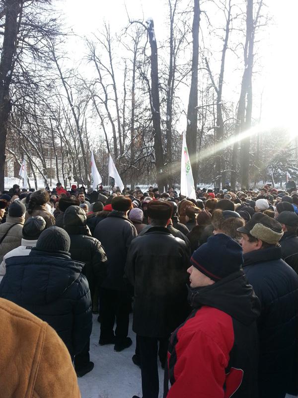 митинг против строительства эстакады на зеленоградской улице