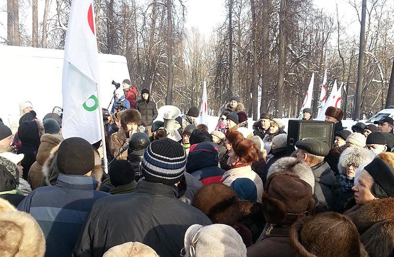 митинг в Ховрино по поводу строительства Северо-Западной хорды