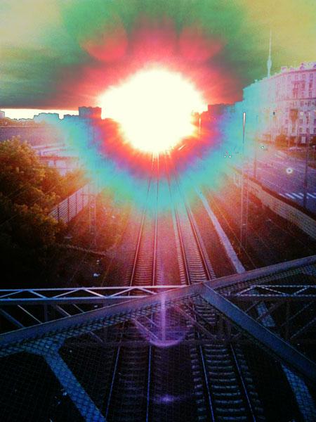 закат на рижском мосту после чачи