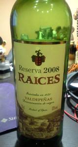 Raices Reserva 2008