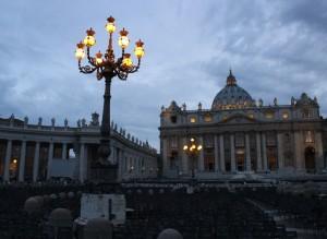 Собор святого Петра в ночи