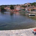 Вид на Охрид с набережной