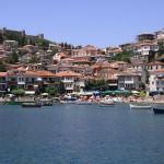 Вид на Охрид с оакватории Охридского озера