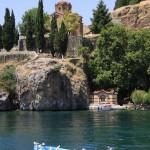 вид на церковь георгия с охридского озера