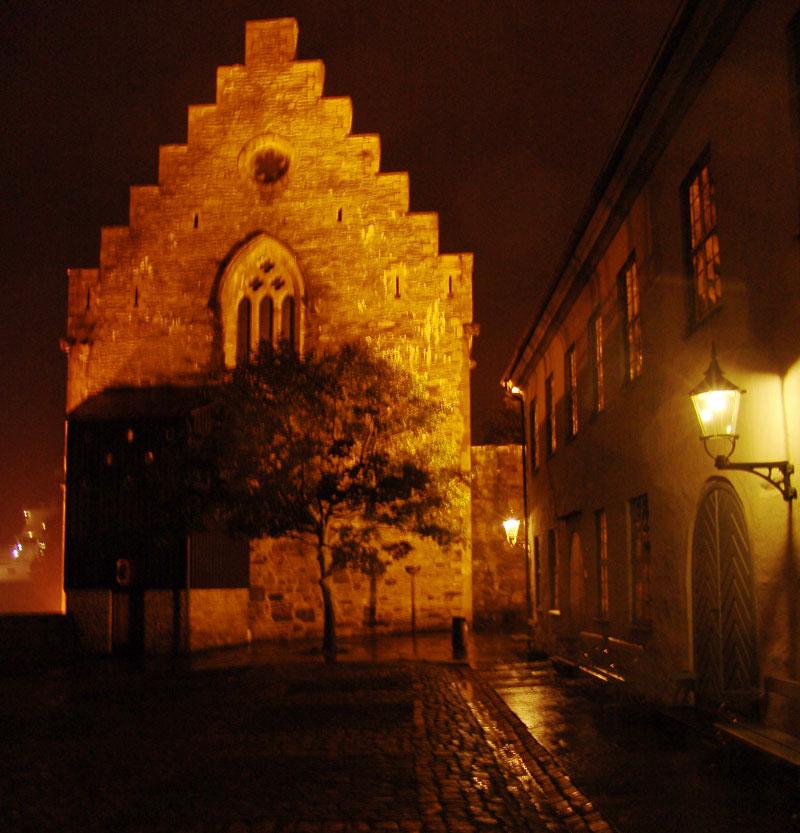 Ночная вылазка в резиденцию древних королей замок Бергенхус (он же дворец Хокона)